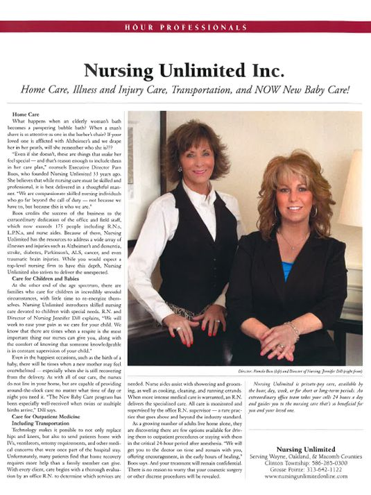 Nursing Unlimited Featured in Hour Magazine